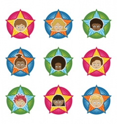 kids badges vector image vector image