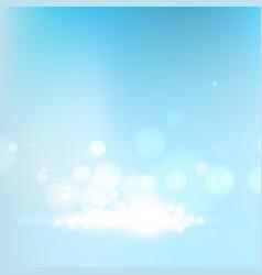 blue bokeh abstraction vector image vector image
