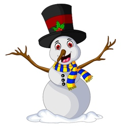 Funny Xmas Snowman for you design vector image vector image