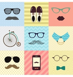 Hipster Vintage Cute Fashion Background vector image vector image