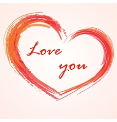 Love background heart vector image