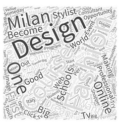 online fashion design schools Word Cloud Concept vector image vector image