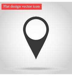 Pointer icon flat with shadow vector image