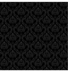 Seamless Damask Wallpaper 3 Gray Color vector image