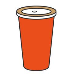 Soda drink in plastic cup vector