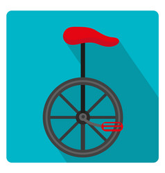unicycle circus icon for flat style with long vector image vector image