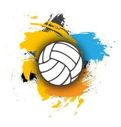 volleyball logo on the background of multi vector image vector image