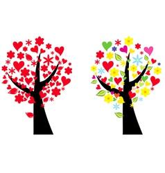 artistic tree vector image vector image