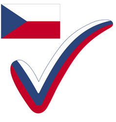 check mark czech republic flag symbol elections vector image