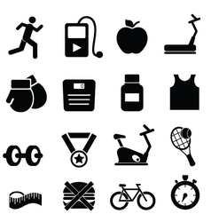 Gym training icons vector image