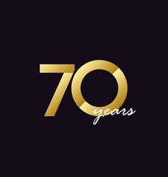 70 years anniversary celebration gradient vector