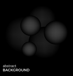 abstract background of black balls vector image