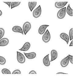 Abstract geometric pattern floral leaf oriental vector