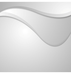 Abstract grey wavy corporate background vector