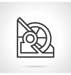 Abstract line icon for winch vector