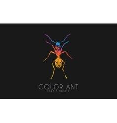 Ant logo color symbol creative vector