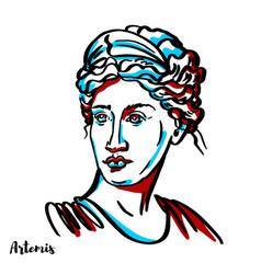 Artemis portrait vector