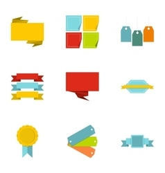 Badge icons set flat style vector