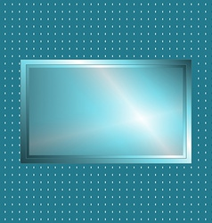 Blue green metallic sign vector image