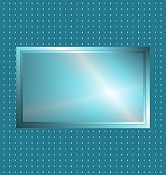 Blue green metallic sign vector image