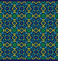 bright geometrical seamless pattern vector image