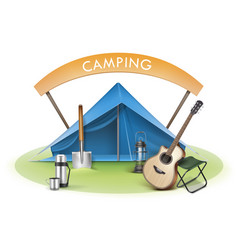 Camping zone vector