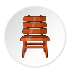 Chair icon cartoon style vector