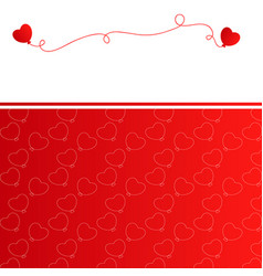 christmas background with red balloons vector image
