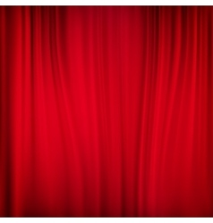 Close view a red curtain eps 10 vector