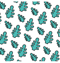 Color botanic cute leaf style background vector