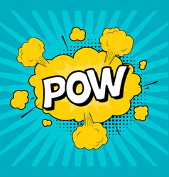 comic speach bubble effect pow vector image