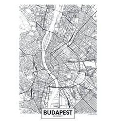 Detailed poster city map budapest vector