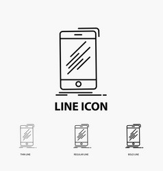 device mobile phone smartphone telephone icon in vector image