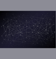 digital background of science or blockchain vector image
