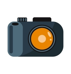 Digital flat photo camera on tripod technology vector