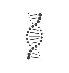 Dna helix symbol or sign isolated on white vector