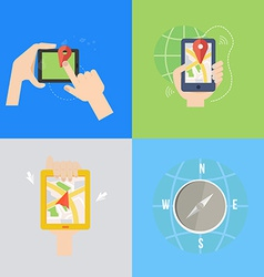 Element of GPS navigation concept icon in flat vector