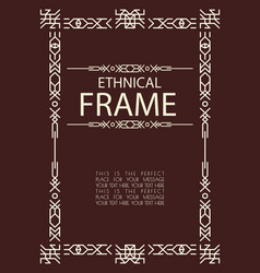 ethnical frame line style vector image