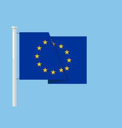 europion union flag with copyspace vector image