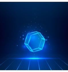 glass hexagon vector image