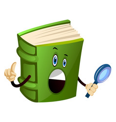 Green book found a clue on white background vector