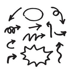 Hand draw arrow vector
