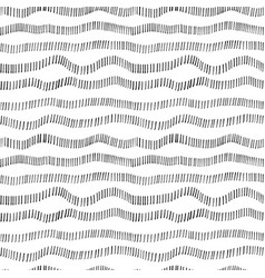 Hand drawn wavy dotted lines seamless pattern vector