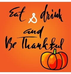 Handwritten Thanksgiving Day lettering vector