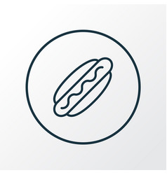 hot dog icon line symbol premium quality isolated vector image