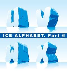 Ice alpfabet part 6 vector