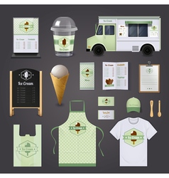 Ice Cream Corporate Design Set vector