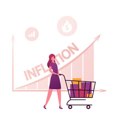 inflation recession and depreciation concept vector image