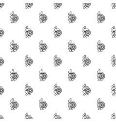 intestine virus pattern seamless vector image