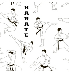 Karate set pattern vector